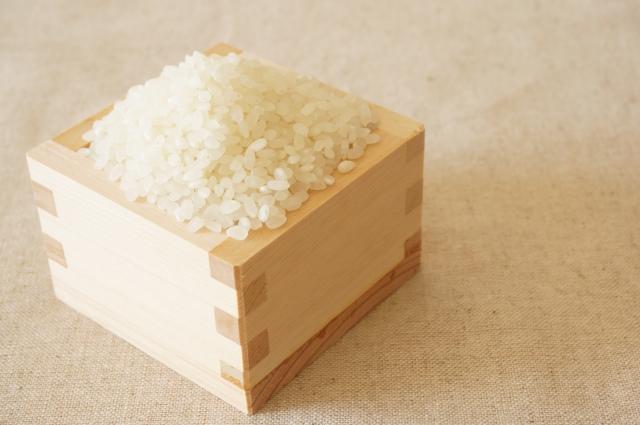 升に入ったお米