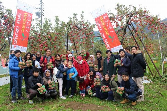 長野リンゴ農園でのインバウント