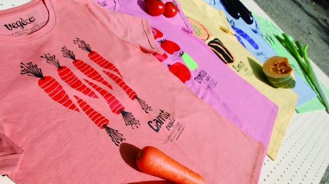 野菜で染色したTシャツ