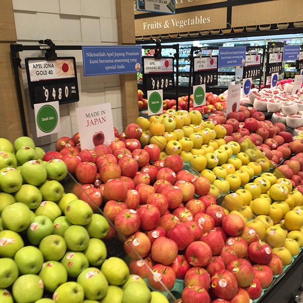 タイに輸出された日本のリンゴ