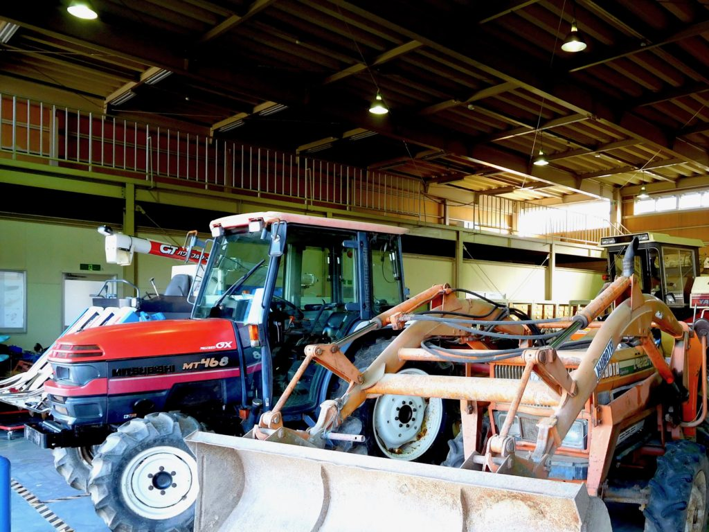 農機具倉庫の様子